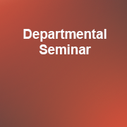 Departmental Seminar 2019-20